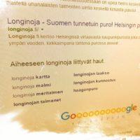 Longinoja.fi -sivu noussut -hakutuloksissa jo sivulle 1. Matka kohti kärkipaikkaa jatkuu.