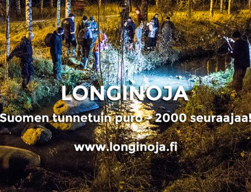 Meitä on jo 2000 – Longinoja kiittää!