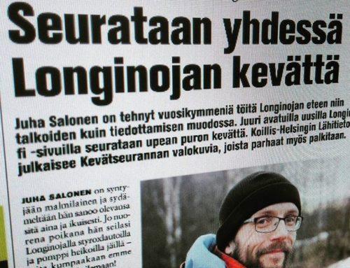 Koillis-Helsingin Lähitiedossa upea juttu Longinojan Kevätseurannasta. Lue juttu www.longinoja.fi