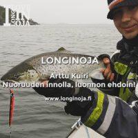 Viisi kysymystä haastattelusarja: Nuoruuden innolla, luonnon ehdoin! – Kalastuksenohjaajaopiskelija Arttu Kuiri. Lue haastattelu: www.longinoja.fi