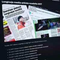 Muutama juttu tullut Longinojasta jo tänä vuonna. Lue julkaistut www.longinoja.fi