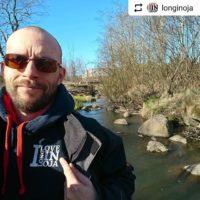 @longinoja Upea retkeilykeli purolla. Suosittelen, vesi on todella kirkasta. Taimenet ei ole vielä aktiivisia viileän veden takia.