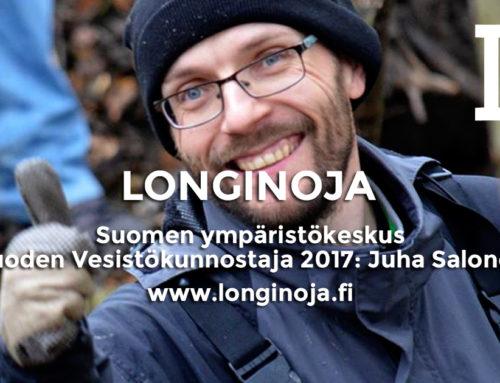 Puroaktiivi Juha Salosesta vuoden vesistökunnostaja 2017