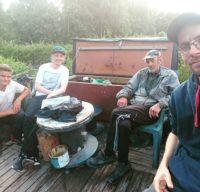 @vantaan_purotalkkarit kävivät tutustumassa Longinojaan. @taimenmies toimi oppaana ja Matti tarjosi nokipannukahvit.