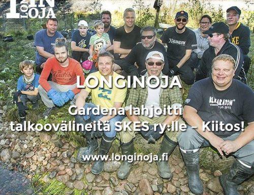 sai talkoovälineitä lahjoituksena. Lue uutinen:www.longinoja.fiIso kiitos, nämä tulevat kovaan käyttöön!