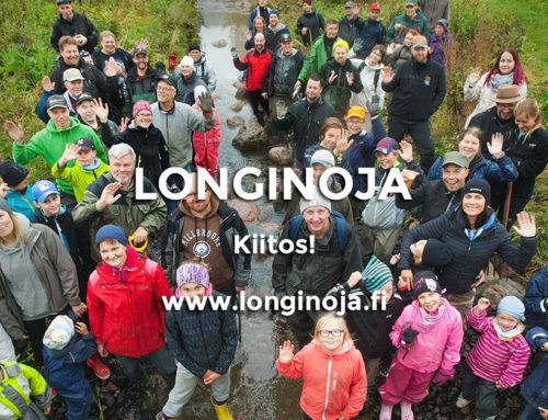 Ennätys osallistujamäärä Longinojan purotalkoissa!