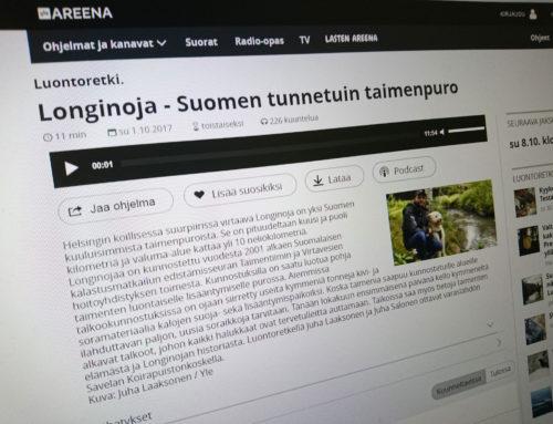 Radio: Yle Radio Suomi – Luontoretki: Longinoja – Suomen tunnetuin taimenpuro