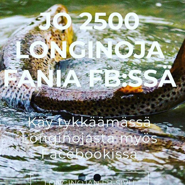 Longinojan Facebook sivuilla jo 2500 tykkääjää. Joko sinä tykkäät? Www.facebook.com/longinoja Kuva @miikkapulliainen