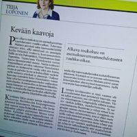 Koillis-Helsingin Lähitiedon pääkirjoitukseen pääseminen oli ihan kiva yllätys tälle keskiviikolle.