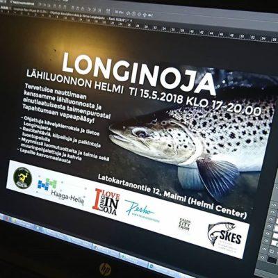 Viimeisiä materiaaleja Longinoja - Luonto lähellä tapahtumaan työnalla.