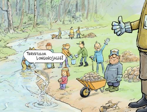 Longinojan purotalkoot 2018 – Tule parantamaan taimenten elinoloja!