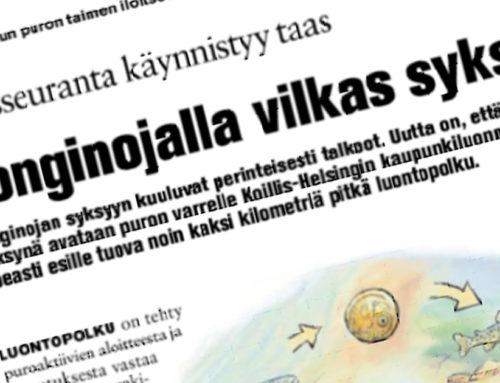 Koillis-Helsingin Lähitieto: Longinojalla vilkas syksy