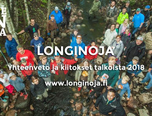 Longinojan purotalkoot 2018 yhteenveto ja kiitokset