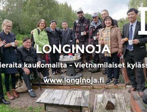 Vietnamin vesi- ja viemäriyhdistys tutustumassa Longinojaan