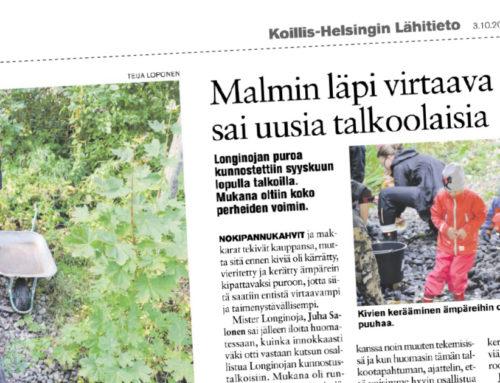 Koillis-Helsingin Lähitieto: Malmin läpi virtaava puro sai uusia talkoolaisia