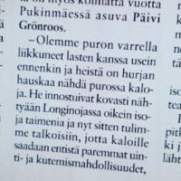 Lue raportti Longinoja purotalkoista uusimmasta Koillis-Helsingin Lähitieto lehdestä. Koko Grönroossin perhe mukana <3 Lue juttu www.longinoja.fi etusivulta