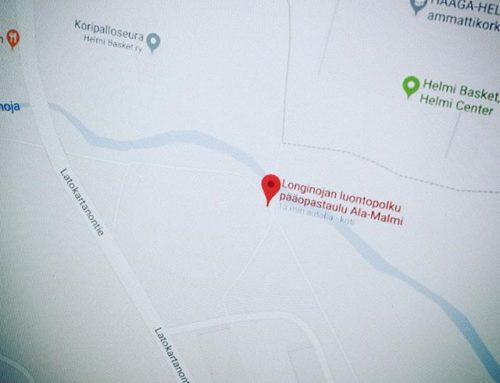 Luontopolku löytyy nyt myös Google -mapsista. @helsinkikymp eikö opastaululle ole osoitetta?