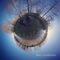 Brook on a tiny planet. Visiting on a caching morning.