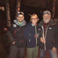 Mika Tommolan ja Juha Salosen kanssa Maikkarin tarinaa kuvaamassa Longinojalla. # salmotrutta
