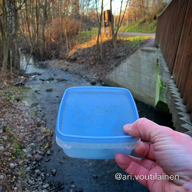 This traditional cache was hidden somewhere by the brook.
