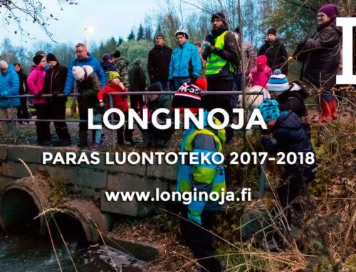 Longinojan puron kunnostus palkittiin vuosien 2017–2018 parhaana luontotekona