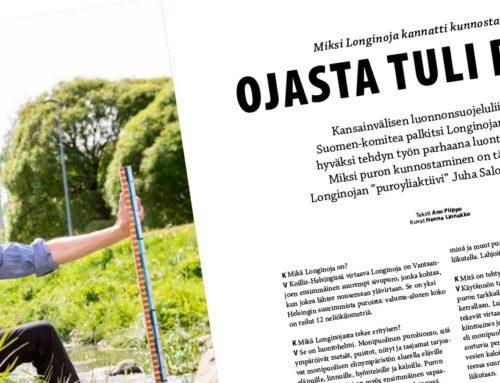 GEO-lehden Muutoksentekijät-juttusarja 08/2019: Miksi Longinoja kannatti kunnostaa?